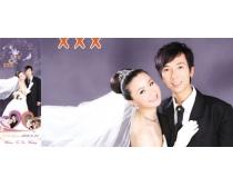 婚纱X展架爱情PSD模板