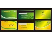 绿色会员卡设计矢量素材
