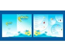 夏季菜单设计矢量素材