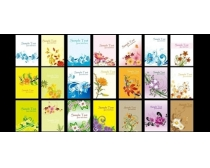 花纹展板背景设计矢量素材