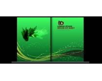 绿色环保画册封面设计矢量素材