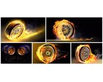 火焰车轮图片素材