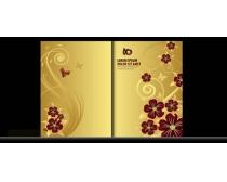 欧式金色质感画册封面设计矢量素材