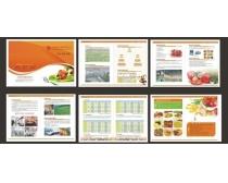 饮食画册设计矢量素材