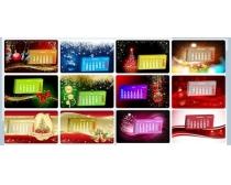 2012圣诞台历设计矢量素材