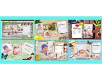 2012年儿童摄像模板台历PSD素材
