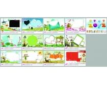 2012年儿童帖卡通台历设计PSD素材
