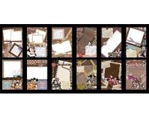2012年米老鼠台历模板PSD素材