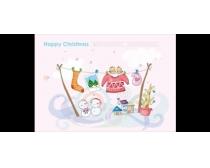 素材/卡通喜庆圣诞节PSD素材