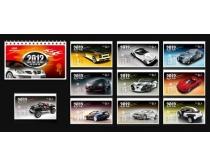 2012年汽车台历设计矢量素材