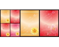 红色企业展会展板背景设计矢量素材