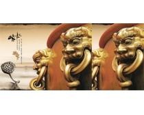 兽像中国风文化PSD素材