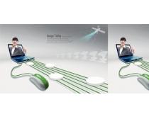 电脑科技创业设计PSD素材