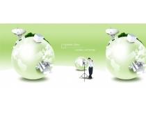 商务地球创意设计PSD素材