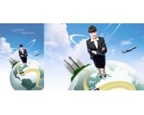 韩国商务科技白领PSD素材