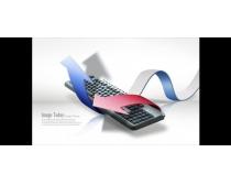 鍵盤上升商業概念PSD素材