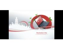 城市电脑科技金融PSD素材