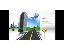 城市公路商业设计PSD素材