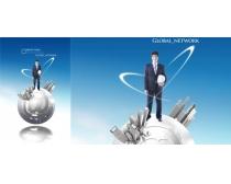 商务男士科技创意广告PSD素材