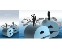 全球E网时代科技PSD素材