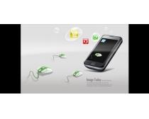 手機概念海報科技PSD素材