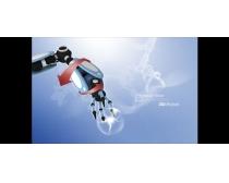 现代科技机器人金融PSD素材