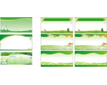 绿色环保展板矢量素材