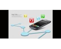 手機科技海報PSD素材