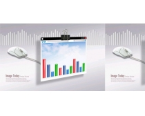 企业柱状图,科技金融PSD素材