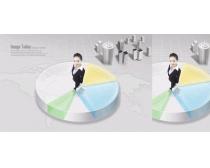 科技商业统计图PSD素材