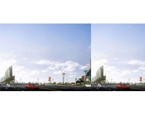 公路环境建设PSD素材
