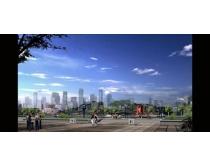 时代广场园林景观PSD素材