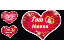 浪漫结婚心形设计模板