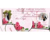 婚礼纪念dvd封面相册台历模板PSD素材