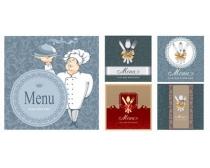 欧式菜单封面设计矢量素材
