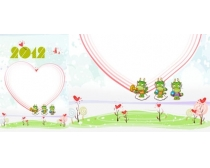 2012挂历封面设计模板