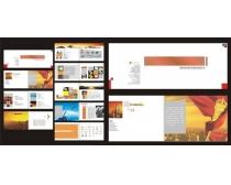 彩印包装公司画册矢量素材
