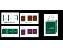 简洁房地产手提袋设计矢量素材