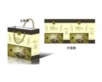 古典茶文化手提袋设计矢量素材