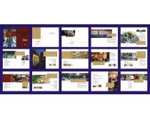 地产杂志画册版式设计矢量素材