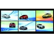 汽车背景名片卡片设计PSD素材
