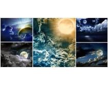 月色美景图片素材