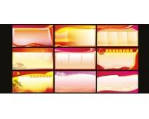 宣传栏模板展板设计矢量素材