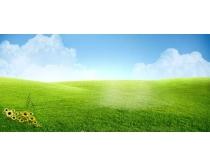 漂亮的草地PSD素材