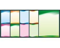 炫彩制度展板背景矢量素材