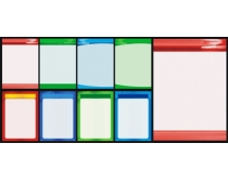 学校制度展板设计矢量素材