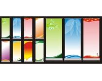 清爽易拉宝展板模板设计矢量素材
