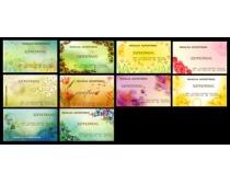 精美花卉名片卡片设计PSD素材