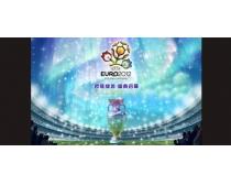 2012足球欧洲杯海报设计PSD素材