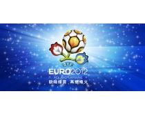 蓝色2012欧洲杯海报背景PSD素材